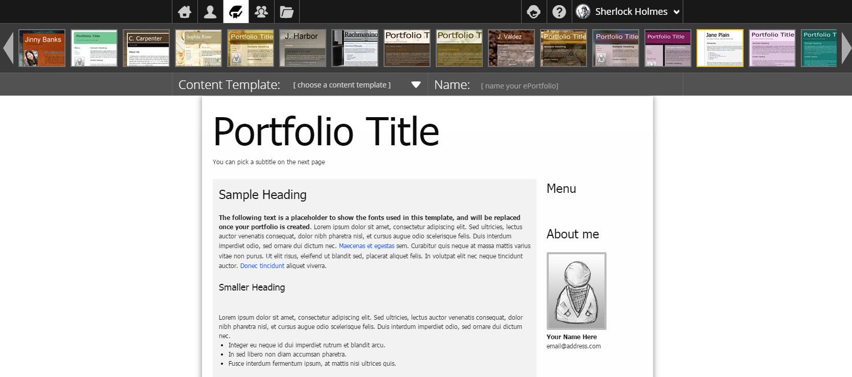 Creating a portfolio step one