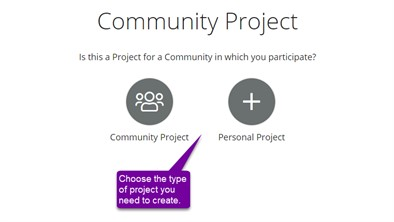Choose Project Type